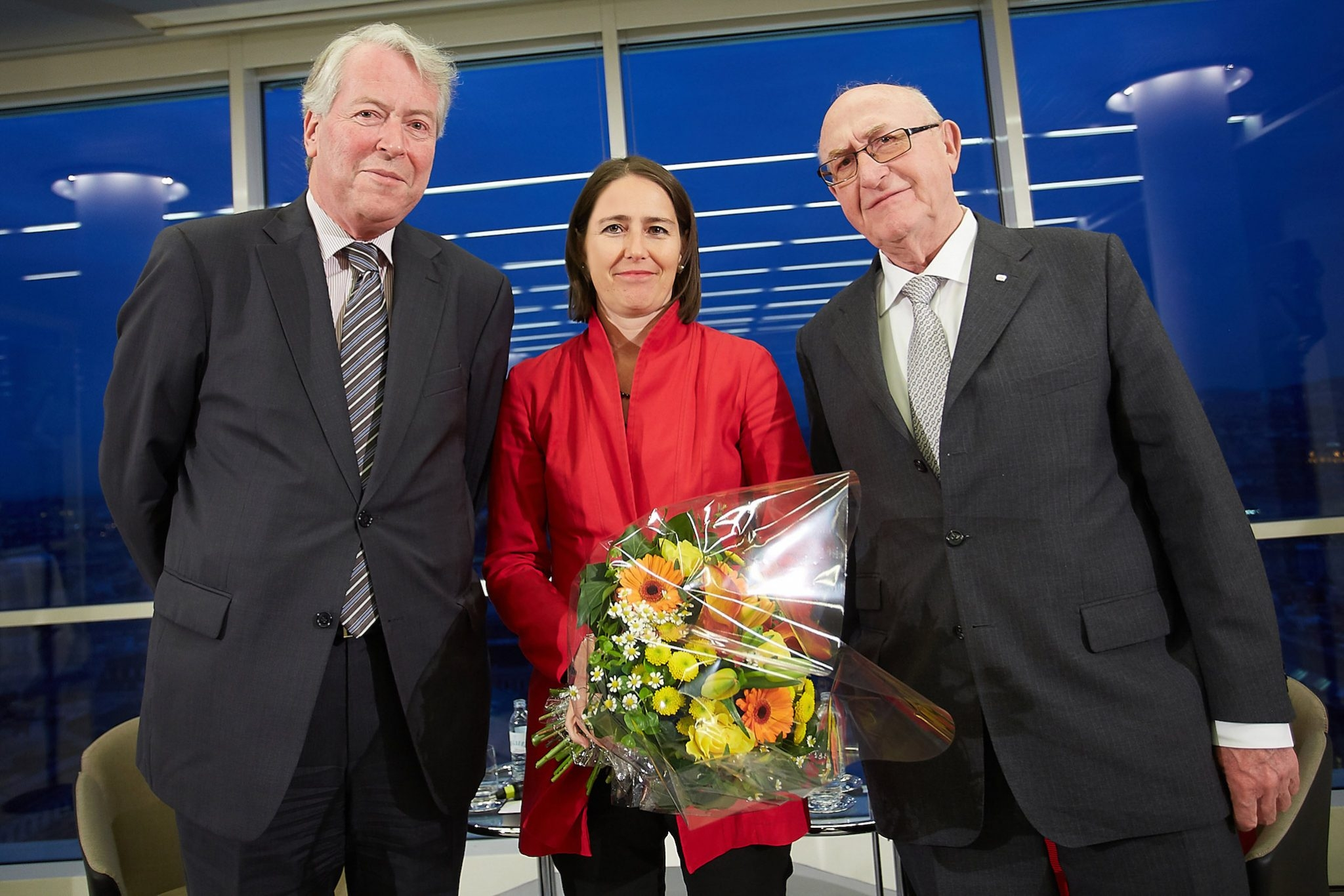 """On the picture from left to right: Martin Hellwig (economist), Dr. Alexandra Föderl-Schmid (editor in chief """"Der Standard"""") and Dr. Günter Geyer (Chairman of the Managing Board of Wiener Städtische Versicherungsverein). © Wiener Städtische Versicherungsverein/APA-Fotoservice/Preiss"""