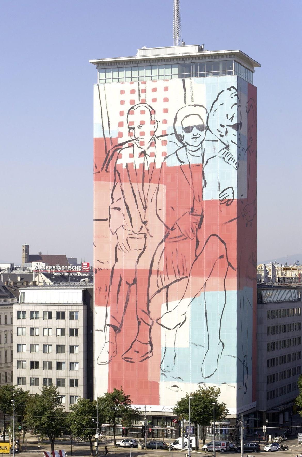"""Ringturmverhüllung 2012: """"Gesellschaft"""