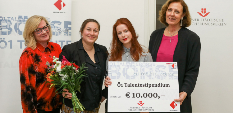 On the picture from left: Barbara Grötschnig, Head of Group Sponsoring of  Vienna Insurance Group (VIG) and Art Collections, this year's Ö1