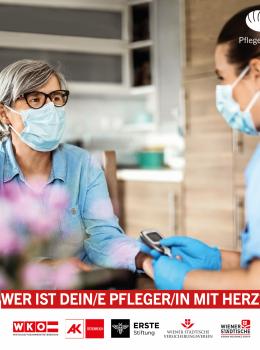 PFLEGER/IN mit HERZ