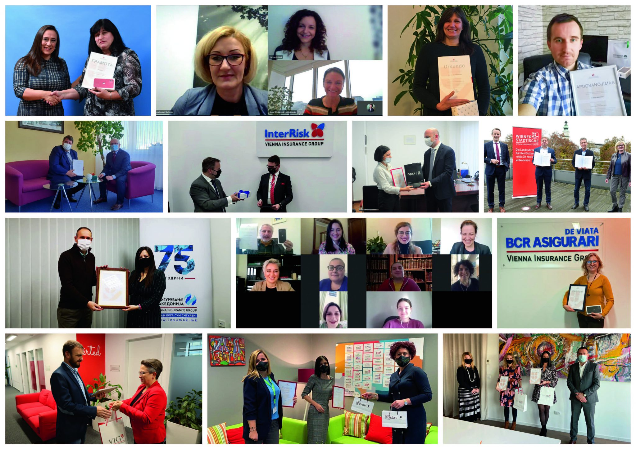 All winners of the Award in Recognition of Commitment to Voluntary Activities in 2020