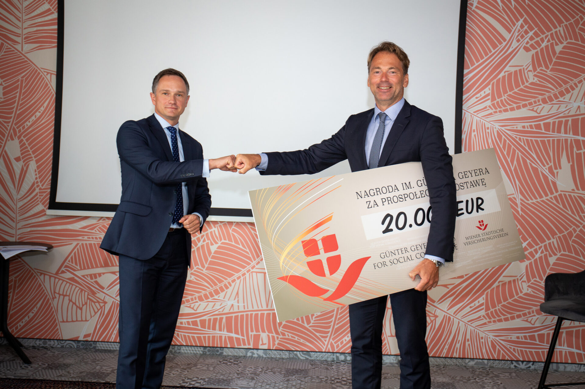 From left to right: Vienna Life CEO Tomasz Borowski and VIG Managing Board Member Harald Riener.  © Vienna Life TU na Życie S.A Vienna Insurance Group